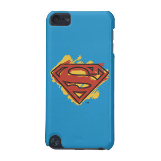 Superman S-Shield   Painted Blue Background Logo iPod Touch 5G Cover