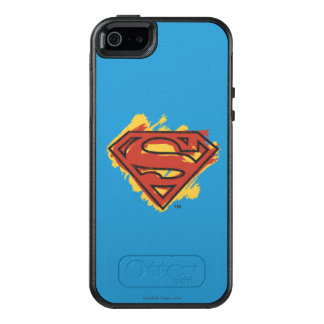 Superman S-Shield | Painted Blue Background Logo OtterBox iPhone 5/5s/SE Case