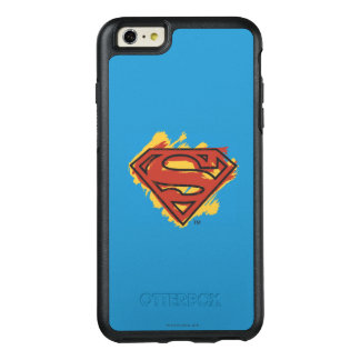 Superman S-Shield | Painted Blue Background Logo OtterBox iPhone 6/6s Plus Case