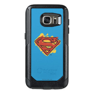 Superman S-Shield | Painted Blue Background Logo OtterBox Samsung Galaxy S7 Case