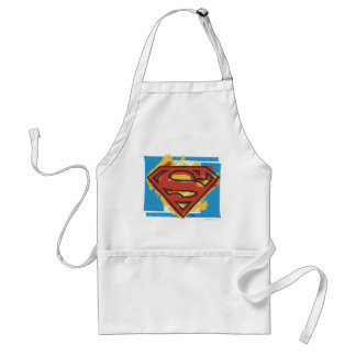 Superman S-Shield | Painted Blue Background Logo Standard Apron