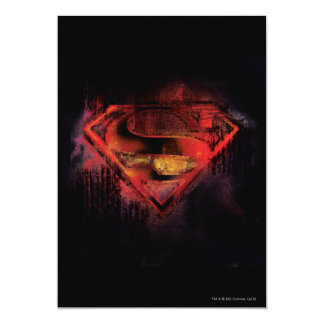Superman S-Shield | Painted Logo 13 Cm X 18 Cm Invitation Card