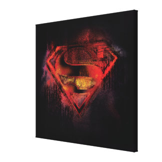 Superman S-Shield | Painted Logo Canvas Print