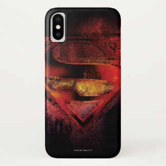 Superman S-Shield | Painted Logo iPhone X Case