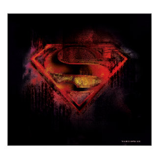 Superman S-Shield | Painted Logo Poster