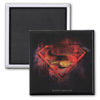 Superman S-Shield | Painted Logo Square Magnet