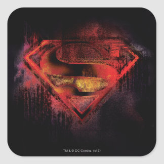 Superman S-Shield | Painted Logo Square Sticker