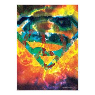 Superman S-Shield | Peace Stamped Logo 13 Cm X 18 Cm Invitation Card