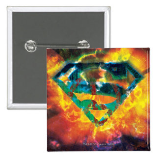 Superman S-Shield | Peace Stamped Logo 15 Cm Square Badge
