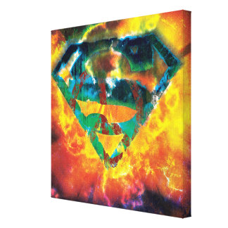 Superman S-Shield | Peace Stamped Logo Canvas Print