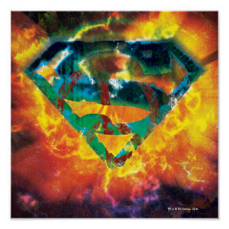 Superman S-Shield | Peace Stamped Logo Poster