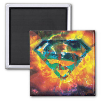 Superman S-Shield | Peace Stamped Logo Square Magnet