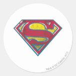 Superman S-Shield | Printed Logo Round Sticker