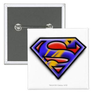 Superman S-Shield | Purple Airbrush Logo 15 Cm Square Badge