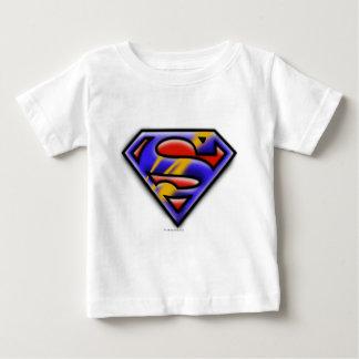 Superman S-Shield | Purple Airbrush Logo Baby T-Shirt