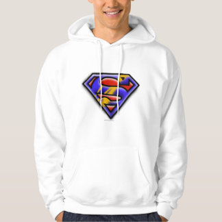 Superman S-Shield | Purple Airbrush Logo Hooded Pullover