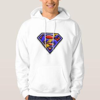 Superman S-Shield   Purple Airbrush Logo Hoodie
