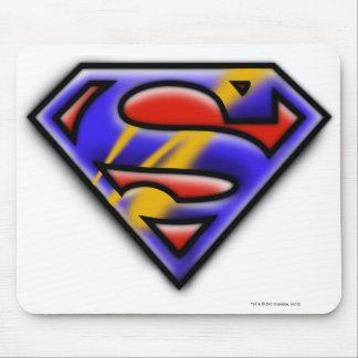 Superman S-Shield | Purple Airbrush Logo Mouse Pad