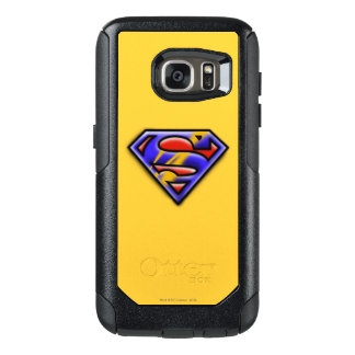 Superman S-Shield | Purple Airbrush Logo OtterBox Samsung Galaxy S7 Case