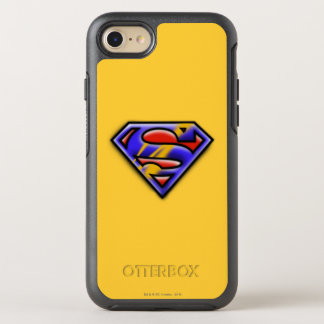 Superman S-Shield | Purple Airbrush Logo OtterBox Symmetry iPhone 8/7 Case