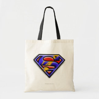 Superman S-Shield | Purple Airbrush Logo Tote Bag