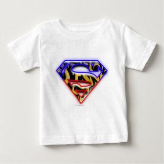 Superman S-Shield | Purple-Red Graffiti Logo Baby T-Shirt