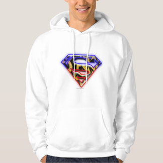Superman S-Shield   Purple-Red Graffiti Logo Hoodie