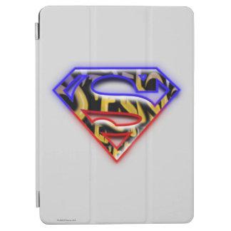 Superman S-Shield | Purple-Red Graffiti Logo iPad Air Cover