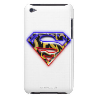 Superman S-Shield | Purple-Red Graffiti Logo iPod Touch Covers