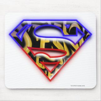 Superman S-Shield | Purple-Red Graffiti Logo Mouse Mat