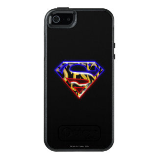 Superman S-Shield | Purple-Red Graffiti Logo OtterBox iPhone 5/5s/SE Case