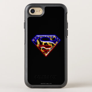 Superman S-Shield | Purple-Red Graffiti Logo OtterBox Symmetry iPhone 8/7 Case