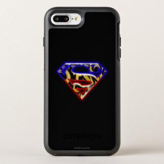 Superman S-Shield | Purple-Red Graffiti Logo OtterBox Symmetry iPhone 8 Plus/7 Plus Case