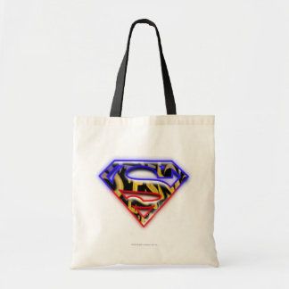 Superman S-Shield | Purple-Red Graffiti Logo Tote Bag