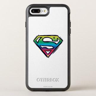 Superman S-Shield | Rainbow Logo 2 OtterBox Symmetry iPhone 8 Plus/7 Plus Case