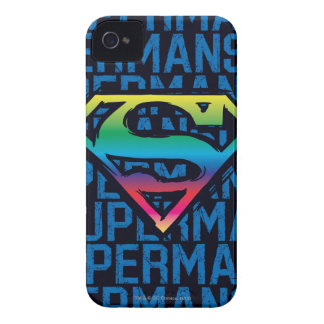 Superman S-Shield   Rainbow Logo iPhone 4 Case