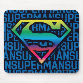 Superman S-Shield | Rainbow Logo Mouse Mat