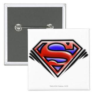 Superman S-Shield | Red Airbrush Logo 15 Cm Square Badge