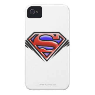 Superman S-Shield | Red Airbrush Logo iPhone 4 Case-Mate Case