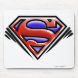 Superman S-Shield | Red Airbrush Logo Mouse Mat