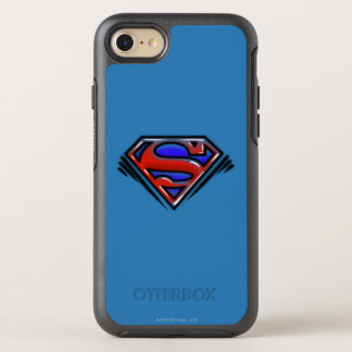 Superman S-Shield | Red Airbrush Logo OtterBox Symmetry iPhone 8/7 Case