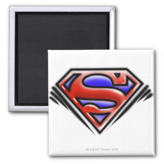 Superman S-Shield | Red Airbrush Logo Square Magnet