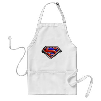 Superman S-Shield | Red Airbrush Logo Standard Apron