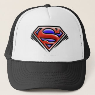 Superman S-Shield | Red Airbrush Logo Trucker Hat