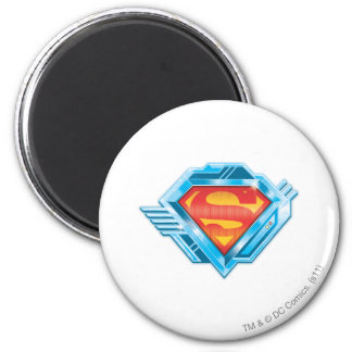 Superman S-Shield | Red and Blue Metal Logo 6 Cm Round Magnet