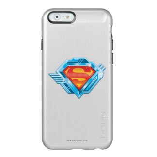 Superman S-Shield | Red and Blue Metal Logo Incipio Feather® Shine iPhone 6 Case