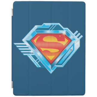 Superman S-Shield | Red and Blue Metal Logo iPad Cover