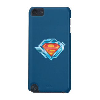 Superman S-Shield | Red and Blue Metal Logo iPod Touch (5th Generation) Cover
