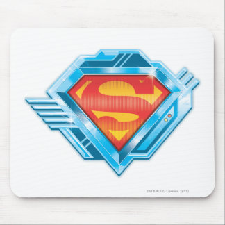 Superman S-Shield | Red and Blue Metal Logo Mouse Mat