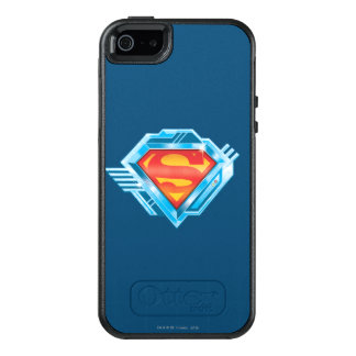 Superman S-Shield | Red and Blue Metal Logo OtterBox iPhone 5/5s/SE Case